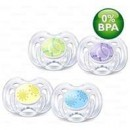 PHILIPS AVENT Pacifier contemporary freeflow (0-6mths) x 2