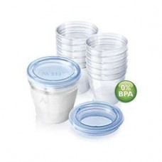 PHILIPS AVENT Milk storage cups (6oz/180ml) x 10 (OUT OF STOCK)