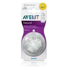 PHILIPS AVENT Teat Natural  ( 0 mths +) newborn flow teat