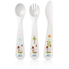 PHILIPS AVENT Toddler knife, fork and spoon -18 mths