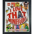 DK Lego Book - Minifigure (I Love That Minifigure) Bundle with 1 minifigure