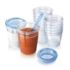 PHILIPS AVENT Milk storage cups (8ozX240ml) x 10